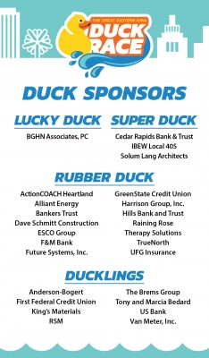Lucky, Super, and Rubber Duck/Duckling Sponsors