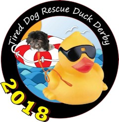 Tired Dog Rescue Duck Race